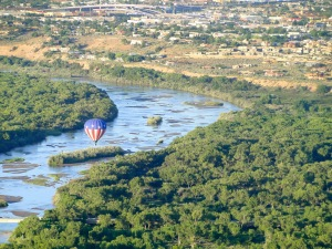 Hot Air Balloon on the Rio Grande